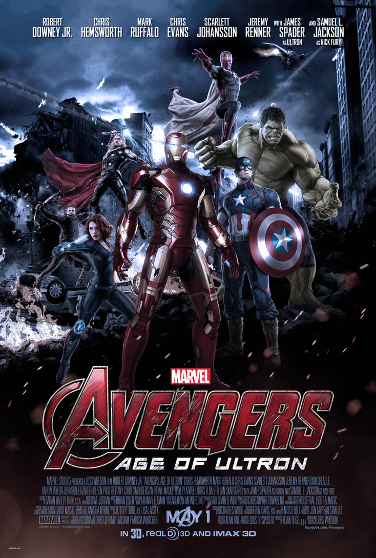 Marvel's Avengers Age Of Ultron Theatrical Poster by J-K-K-S