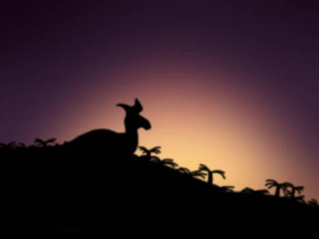 Retrosaur Sunset