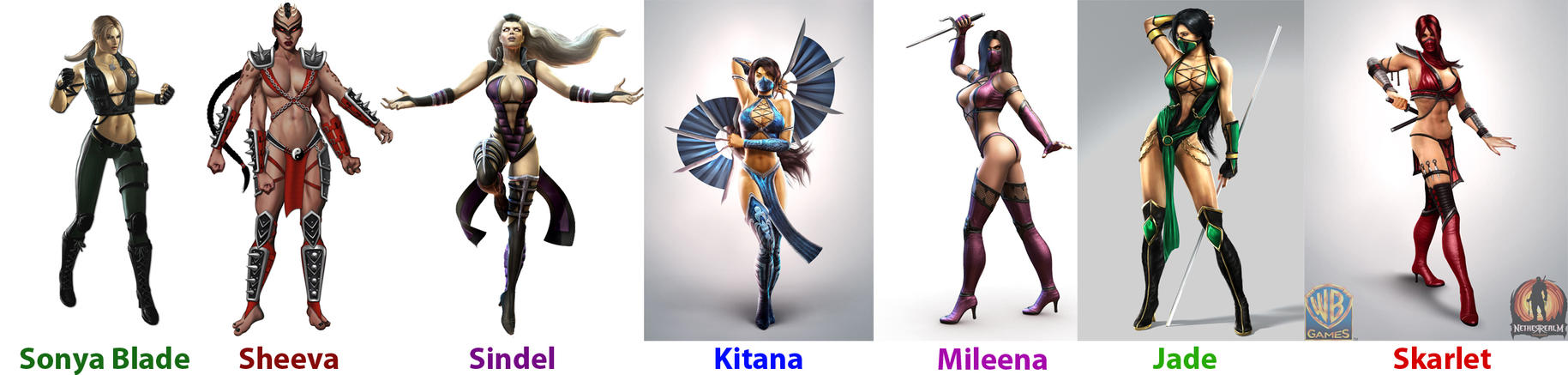 Mortal Kombat girls by Algono Images - Frompo