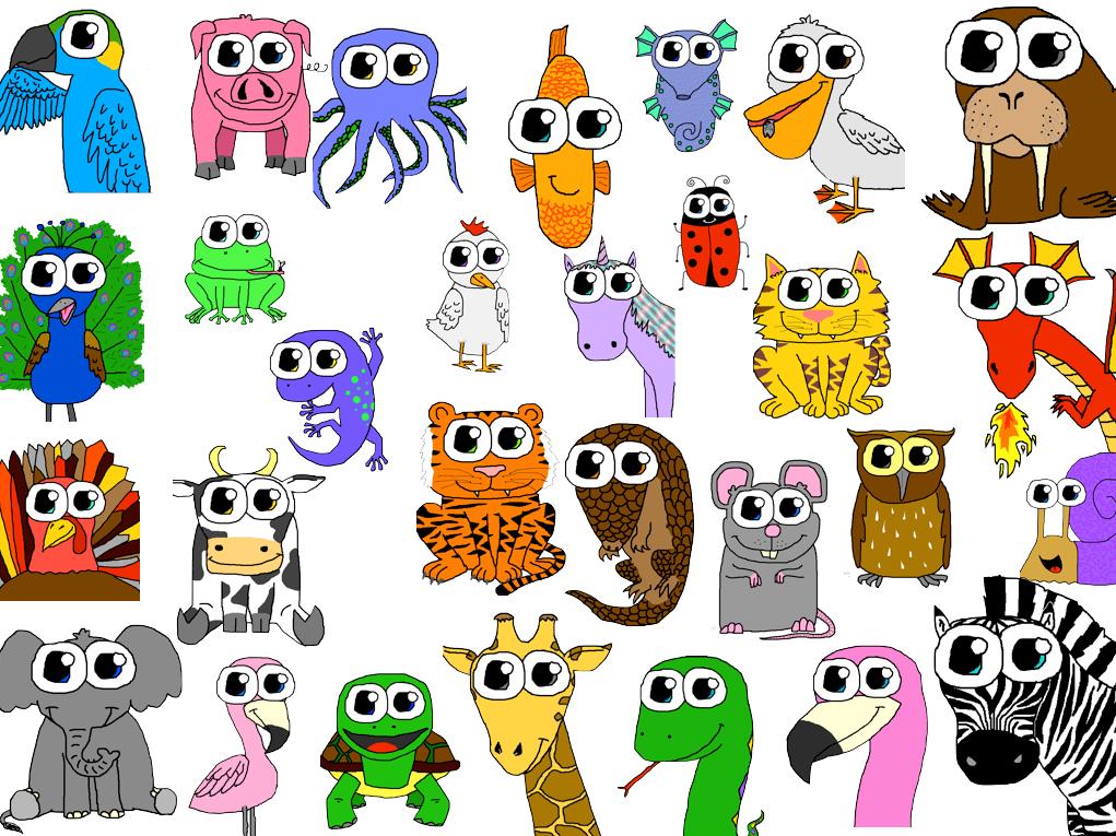 cartoon animal collage by floralaurel on deviantart