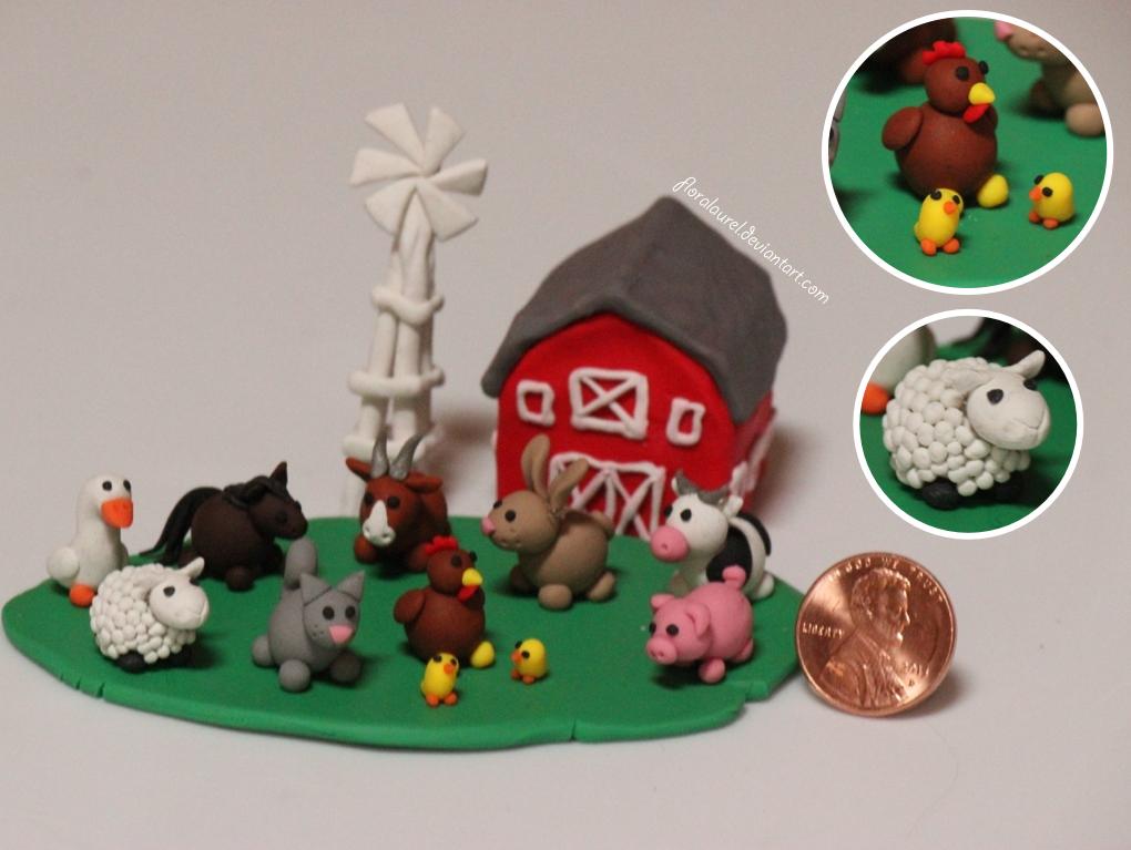 Miniature Animal Farm By Floralaurel On Deviantart
