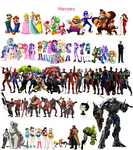 Equestria Girls and some Superheroes