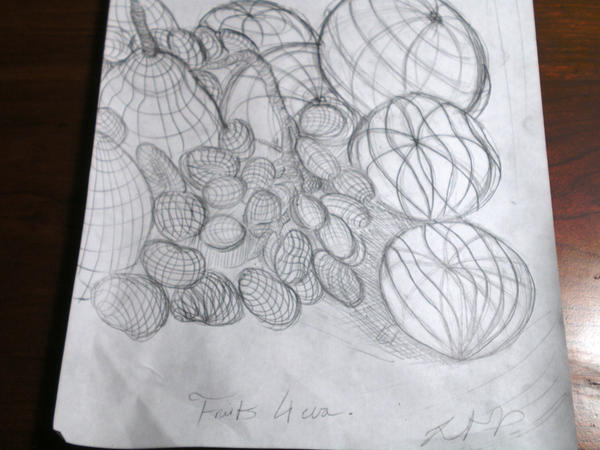 Contour Line Drawing In Art : Contour line drawing of fruits by thevoidapproaches on deviantart