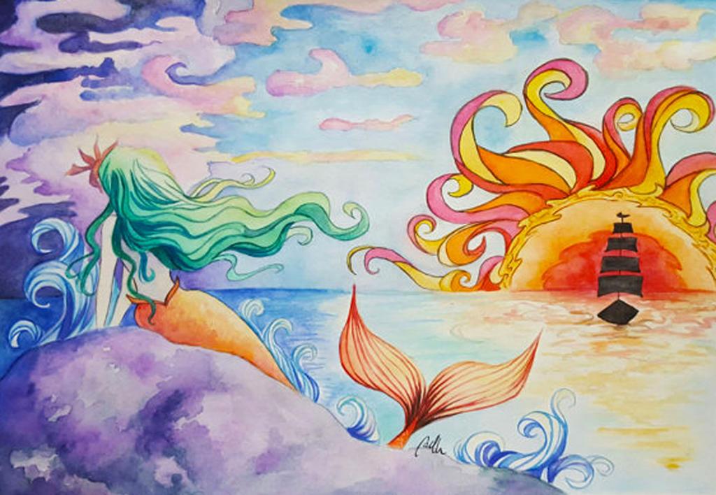 Mermaid Sunset by MarquisduSoliel