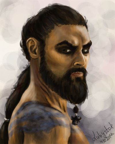 Jason Momoa ( Khal Drogo) Game Of Thrones By Lubystok On