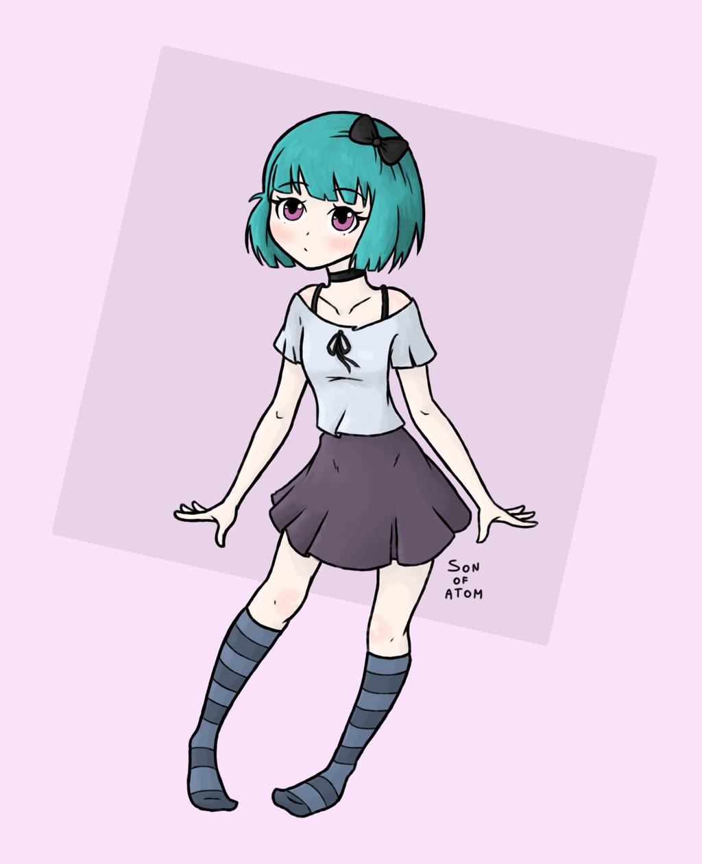 Anime dress drawing