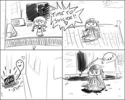 Kaguya can't play Yume Nikki by DeGeso