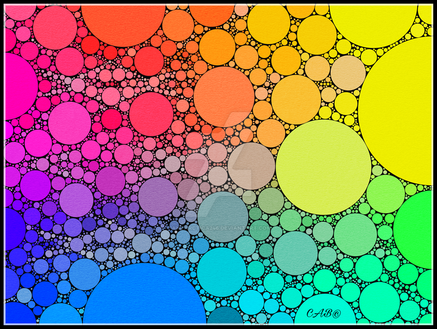Colorful Rainbow Circles by antarctica246