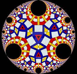 Mondrian Inspired Disc