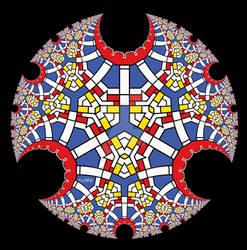 Mondrian Inspired Disc II
