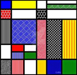 Mondrian Inspired Tile I
