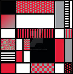 Mondrian  Inspired Tile IV