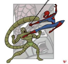 Spider-Man vs. The Scorpion by retrorobotboy