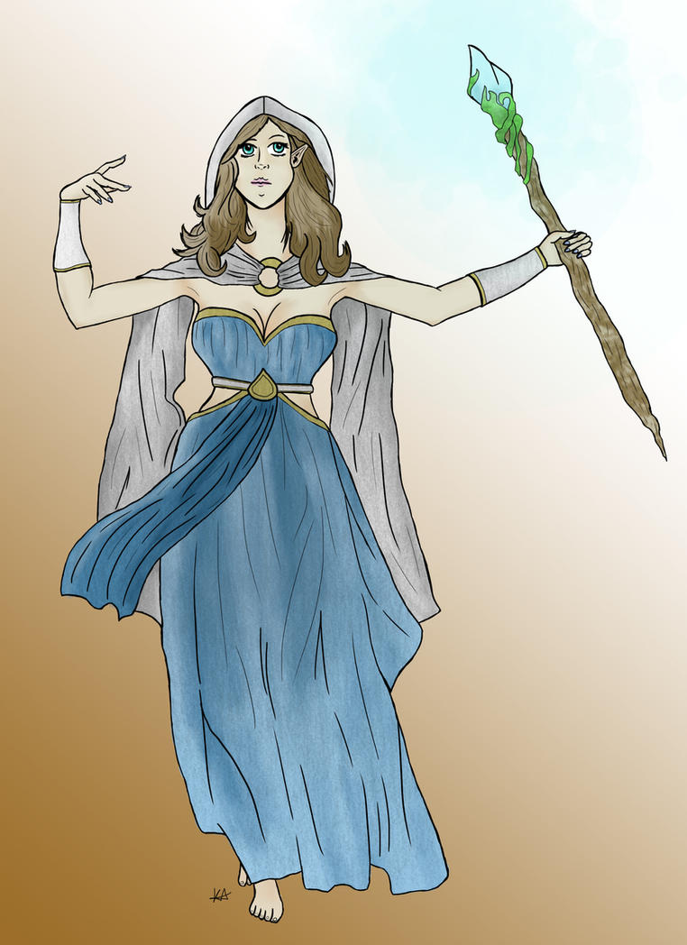 Kyvanna the High Elf Wizard by Animatelle