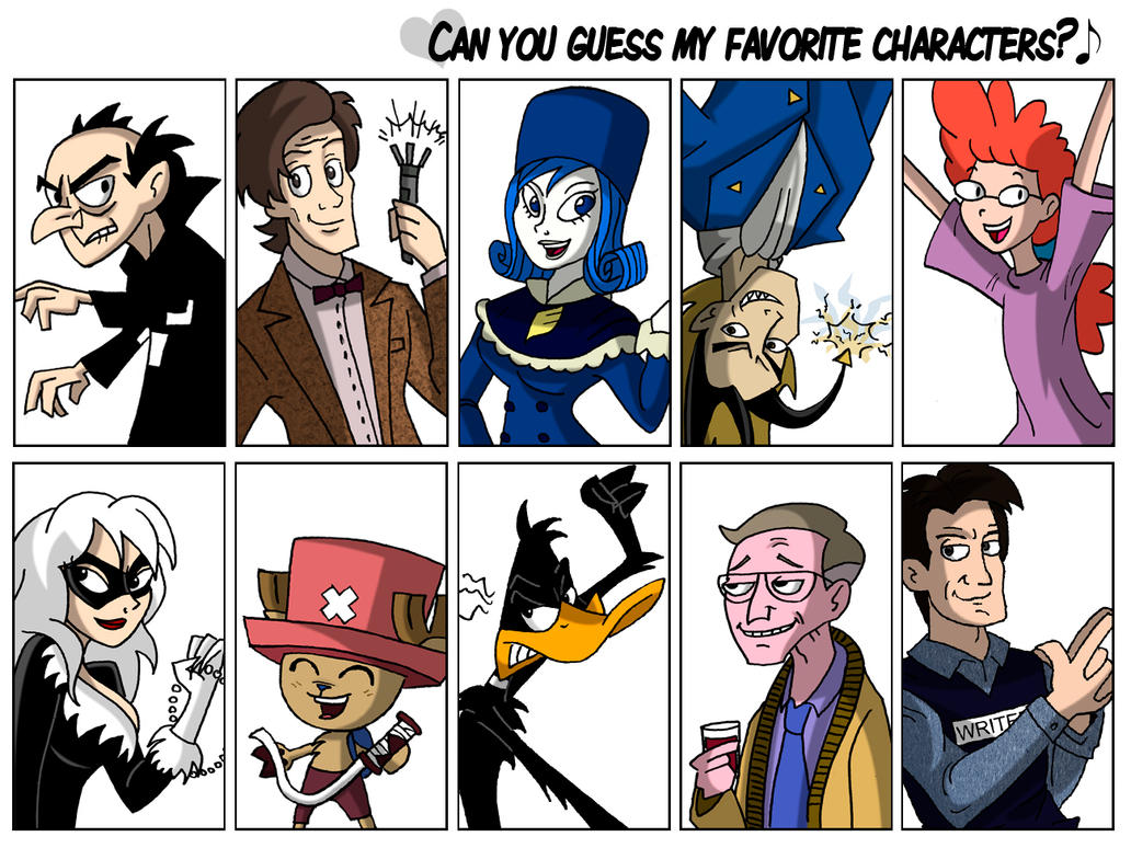 10 Fave Characters Meme by JaviDLuffy