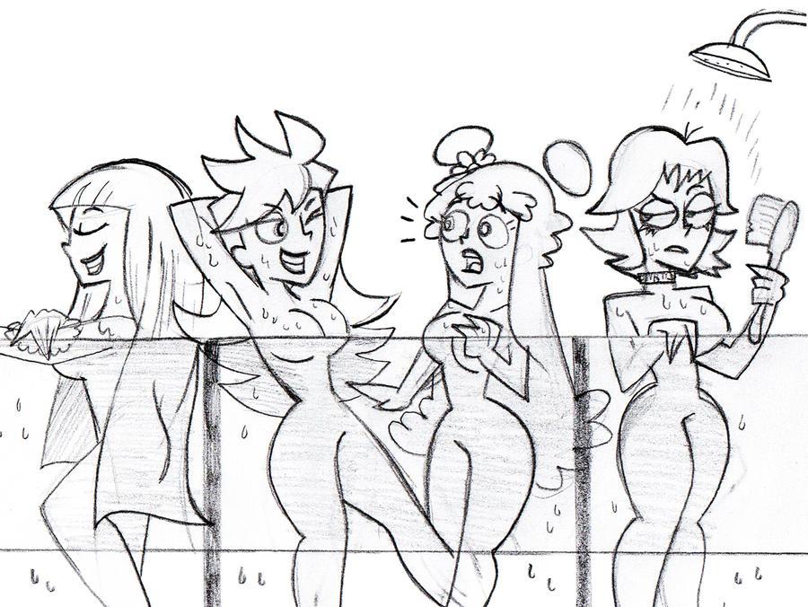 SkeCom: Ami, Yumi, Panty and Stocking by JaviDLuffy