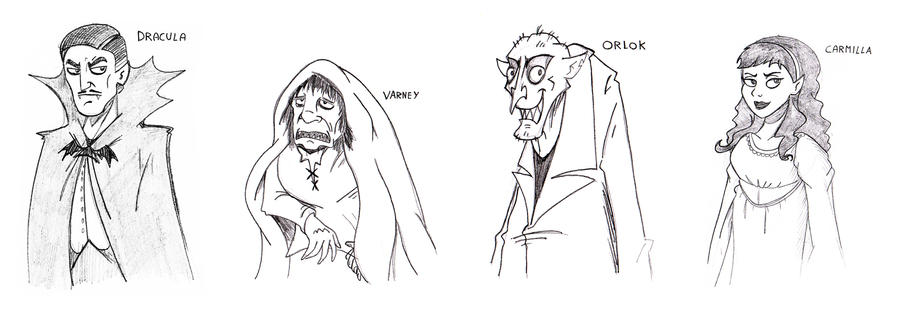 Sketch: Classical Vampires by JaviDLuffy