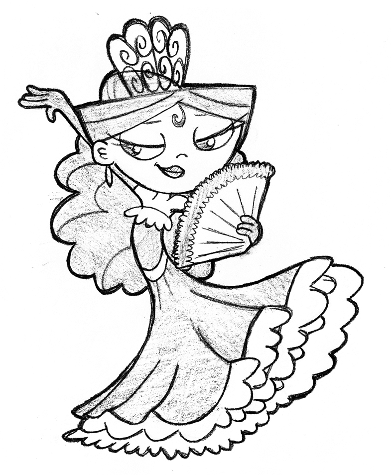 coloring pages flamenco dancers - photo#26