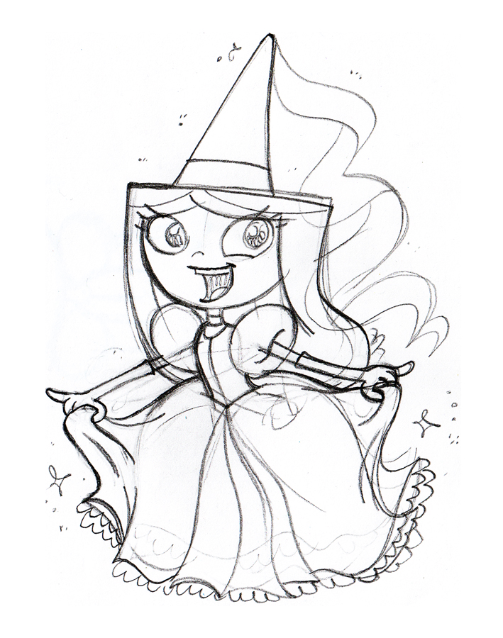 Sketch: Princess Isabella by JaviDLuffy