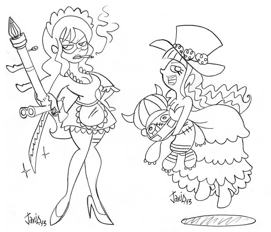 Sketch: One Piece Ladies 1 by JaviDLuffy