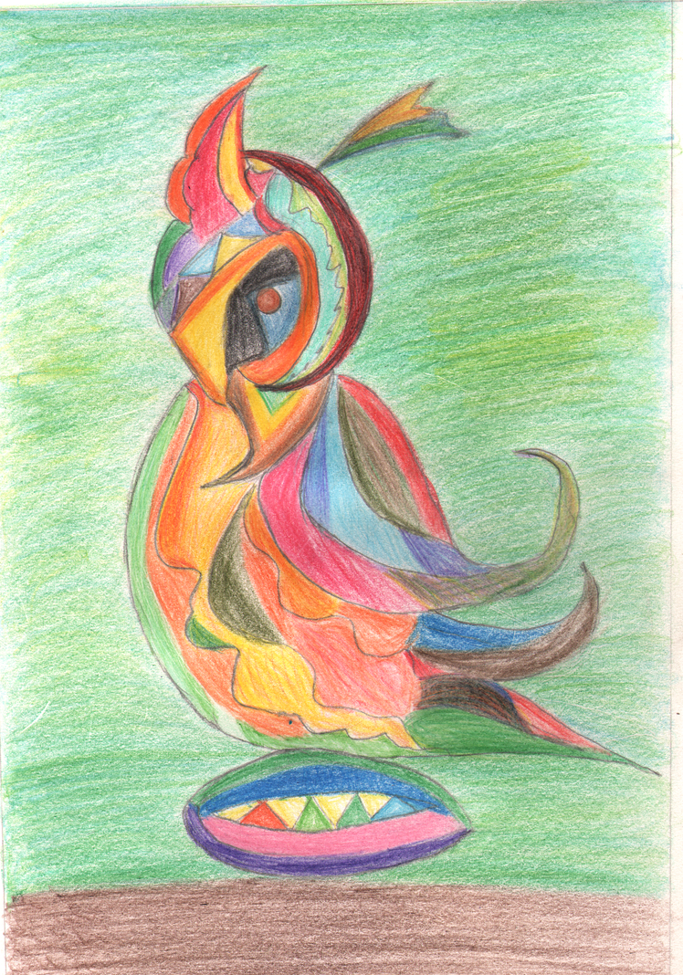A Lovely Bird With Colours Drawing by rohitsapra on DeviantArt