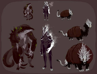 Armadillo monster Adoptables (CLOSED) by ToothlessEgo