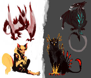 Adoptables (2/4 OPEN) (Reduced price) by ToothlessEgo