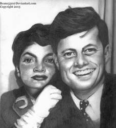 Jackie and John (Pencil Drawing) by beans330