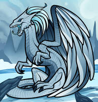 White Frost Dragon by Dragoart