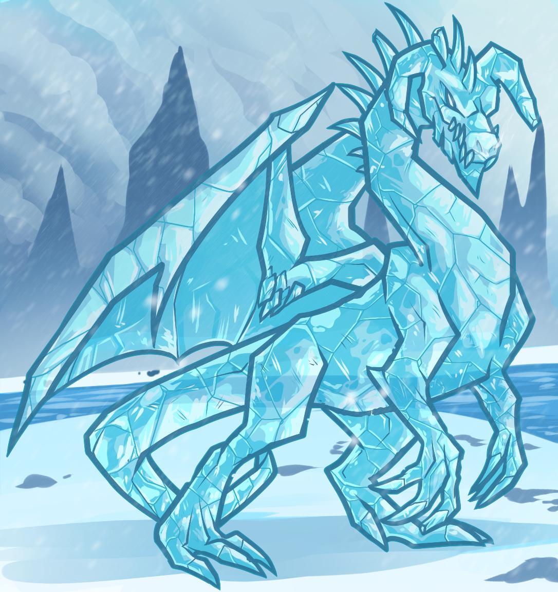 Ice Dragon, White Dragon Elemental By Dragoart