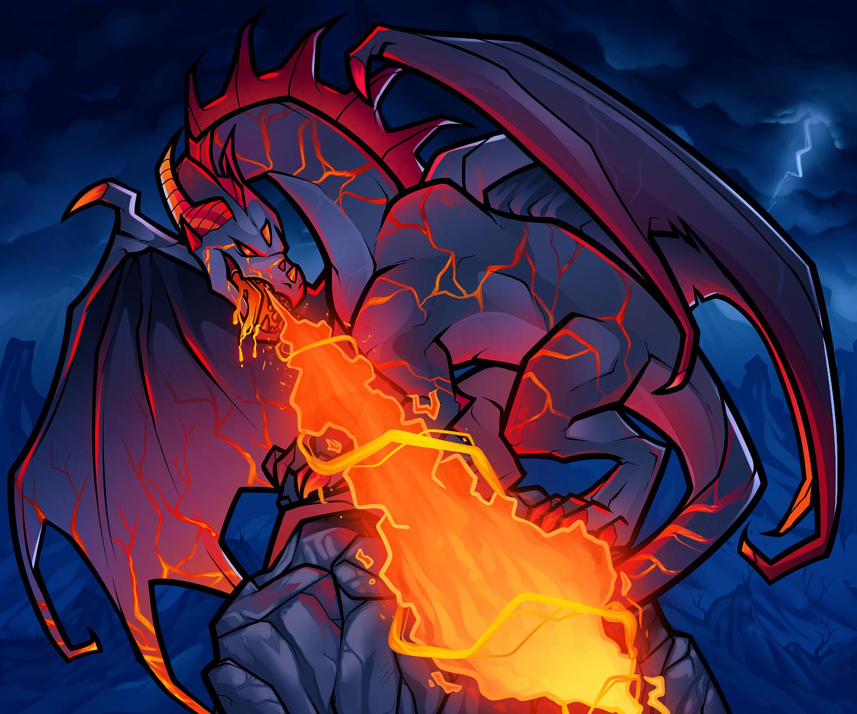 Fire Breathing Dragon by Dragoart on DeviantArt