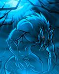Lurking Midnight Werewolf