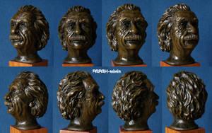 Albert Einstein bust 1:3 painted resin cast