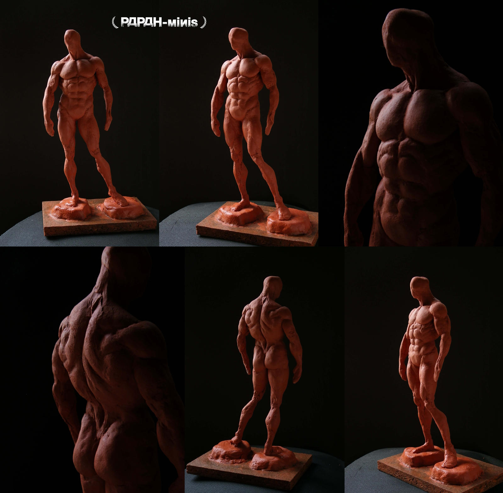 Male anatomy bodybuilding figure 1M WIP, 24cm by Papah-minis on ...