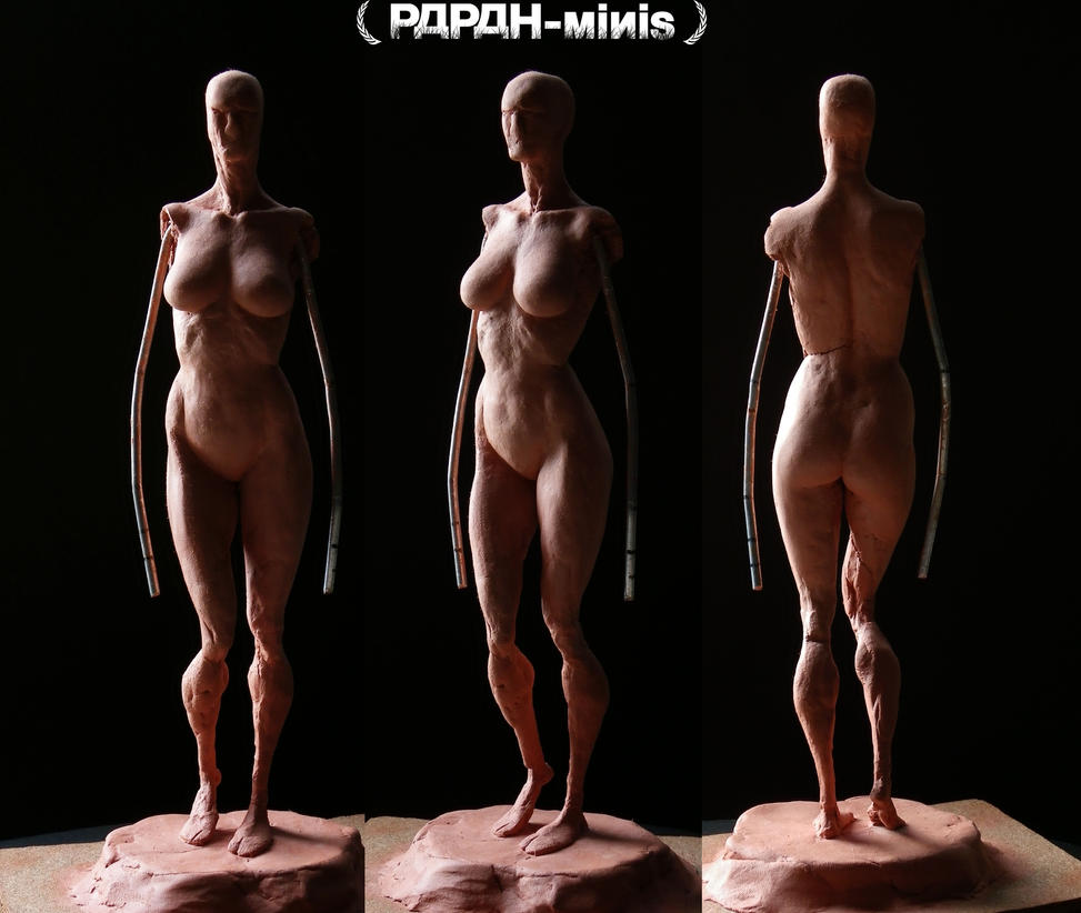 Female anatomy figure 1F WIP2, 24cm by Papah-minis on DeviantArt