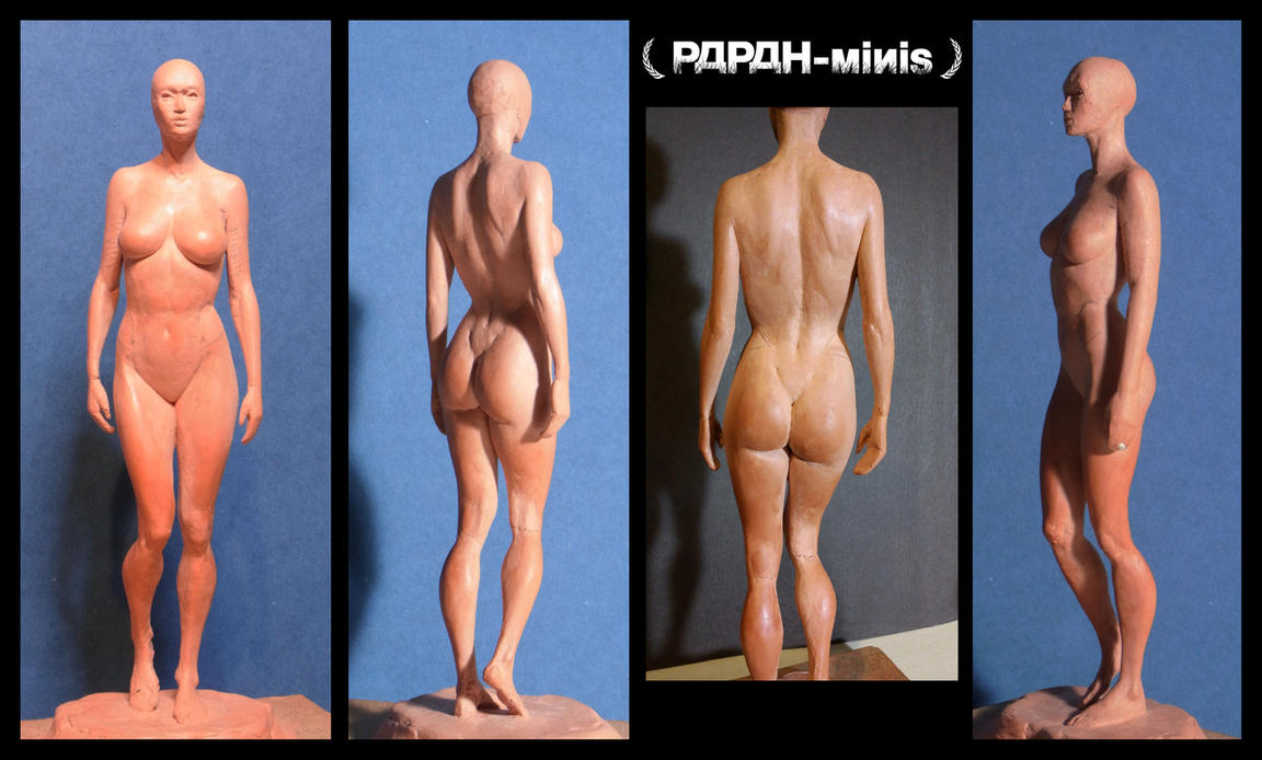 Female anatomy figure 1F WIP3, 24cm by Papah-minis on DeviantArt