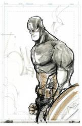 Captain America, sketch.