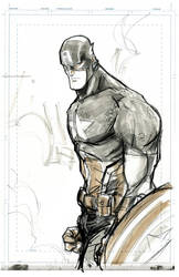 Captain America, sketch. by JohnTimms