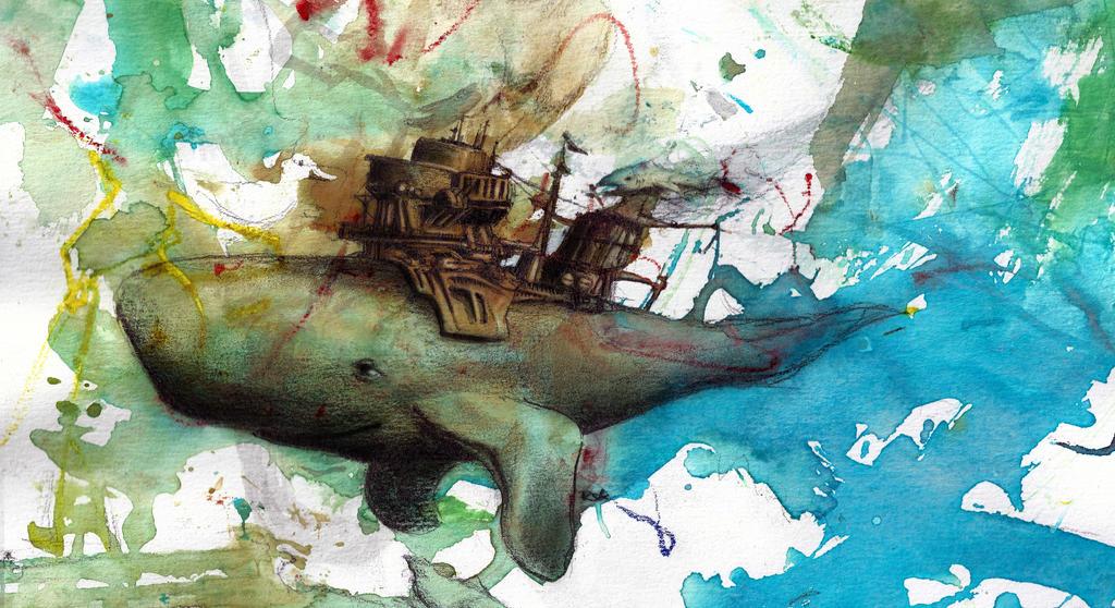 Battlewhale (Mila collab) by rskrakau