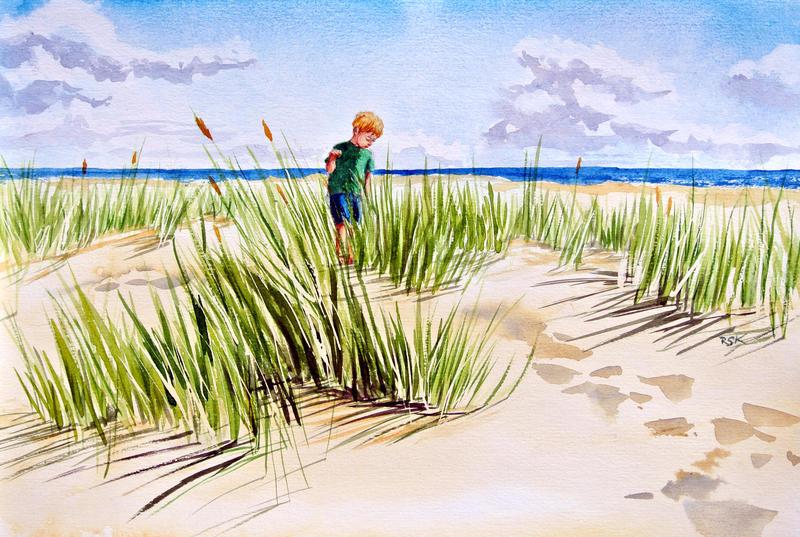 Dunes of the North Sea by rskrakau