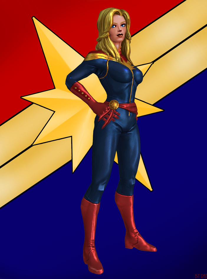 Captain Marvel by RazKurdt