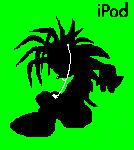 ipod manic the hedgehog by rosethehedgehog58
