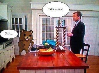 Chris Hansen meets pedobear by lazy-muffen