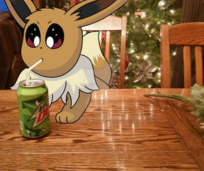 Pokemon #20 Eevee and Mtn Dew by Skylor1819