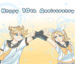 Happy 10th Anniversary, Rin and Len!(+speedpaint) by LeeNeji4evs