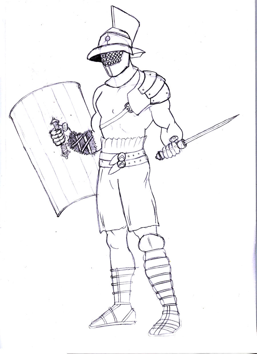 How To Draw Gladiator