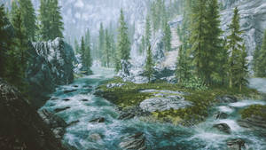 Sacred River- Skyrim by WatchTheSkiies