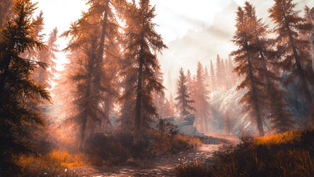 Red Forest III - Skyrim by WatchTheSkiies