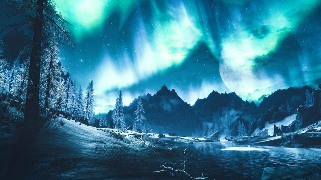 Across The Sky II - Skyrim by WatchTheSkiies