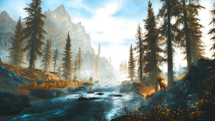 White River - Skyrim by WatchTheSkiies